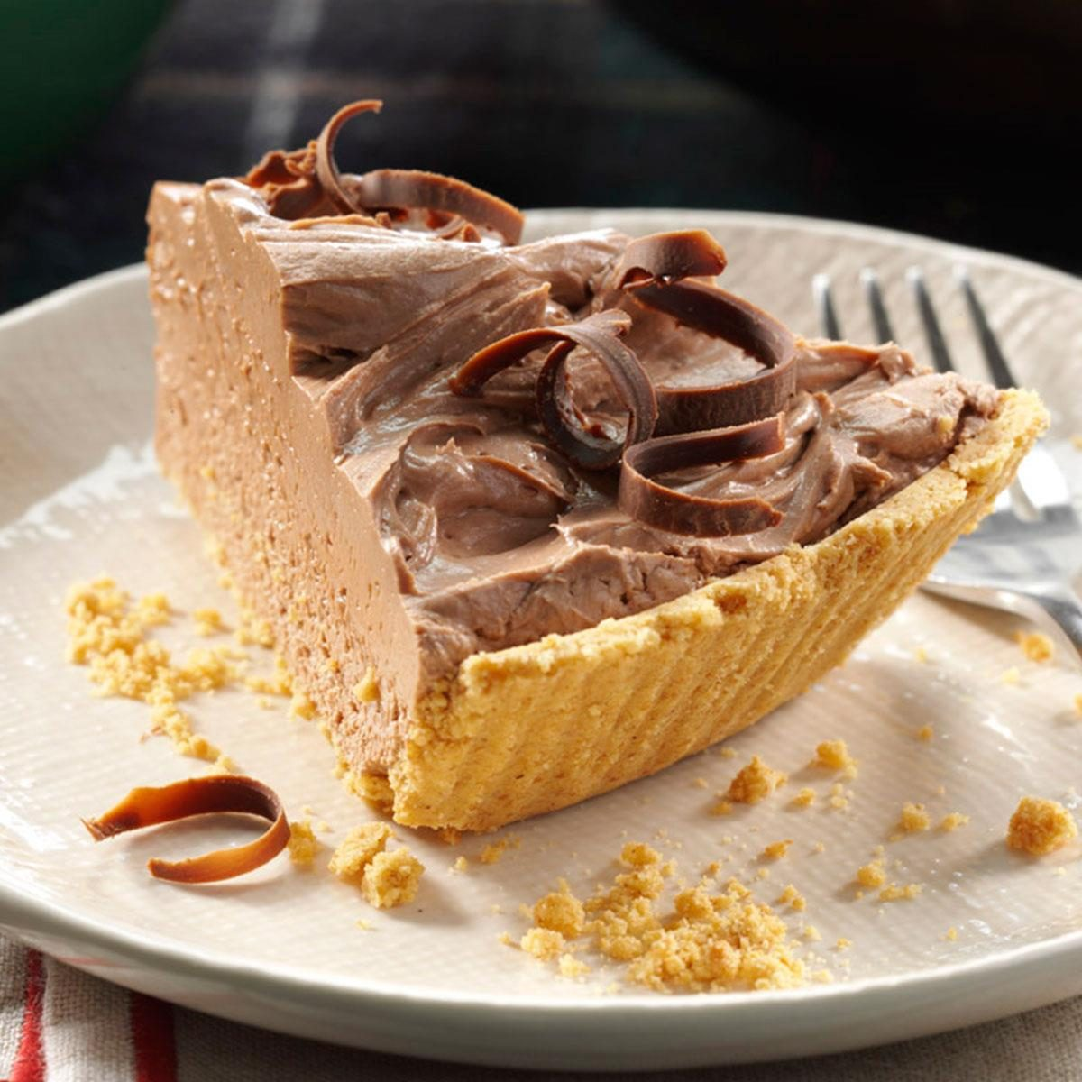 Chocolate Cheesecake Pie Recipe | Taste of Home