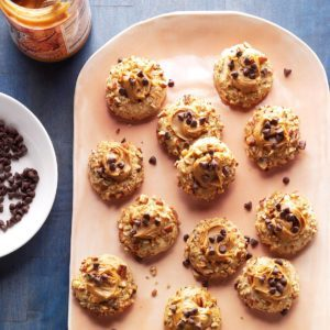 Chocolate Chip & Cookie Butter Thumbprints