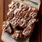 Chocolate Cinnamon Rolls with Icing