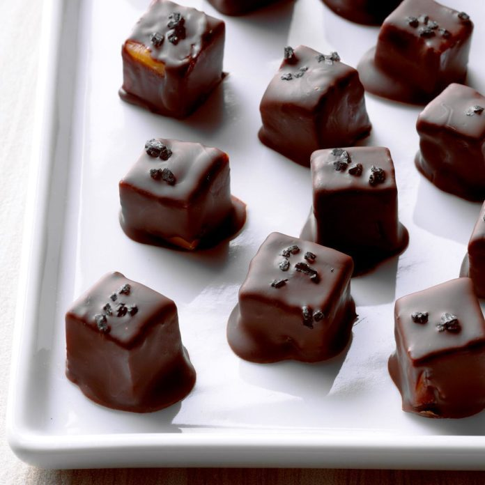 Chocolate-Covered Cheese with Black Sea Salt
