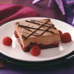 Chocolate Cran-Raspberry Cheesecake Bars