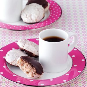 Chocolate-Dipped Almond Macaroons