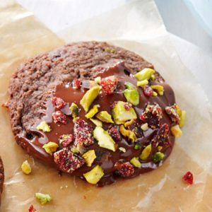 Chocolate-Dipped Spumoni Cookies