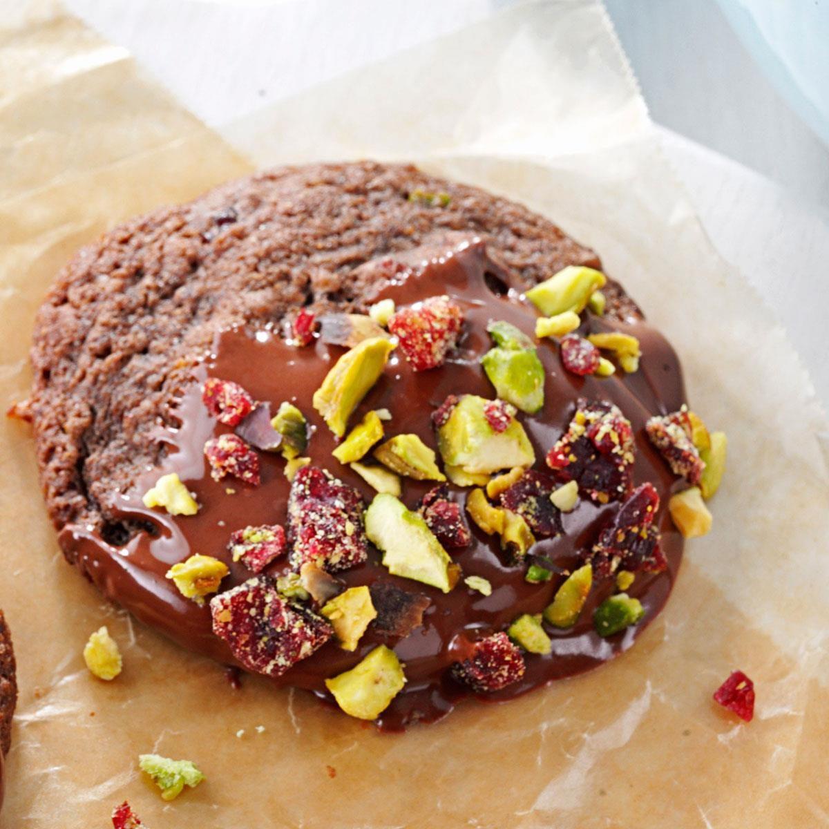 Chocolate-Dipped Spumoni Cookies