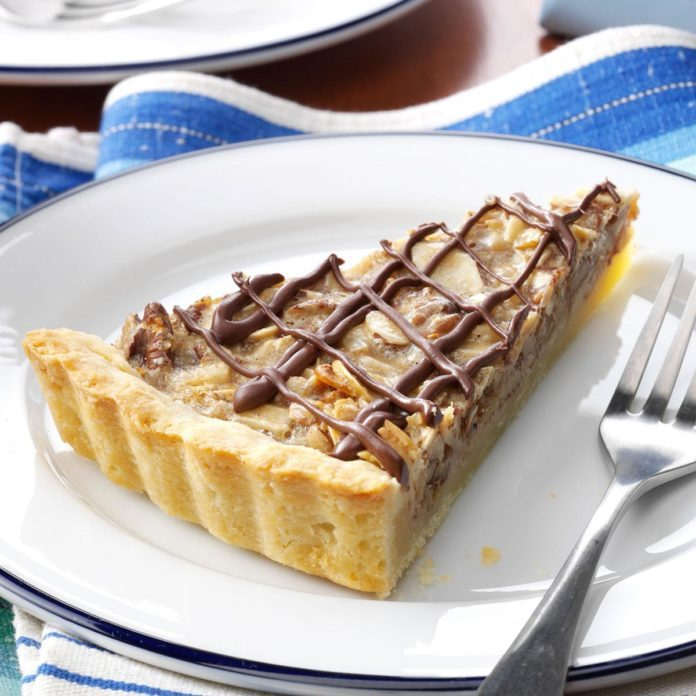 Chocolate Drizzled Maple-Nut Tart