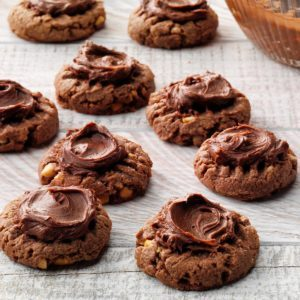 Chocolate Fudge Peanut Butter Cookies