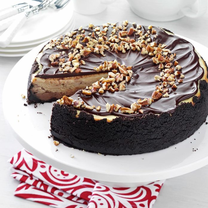Chocolate Glazed Cheesecake