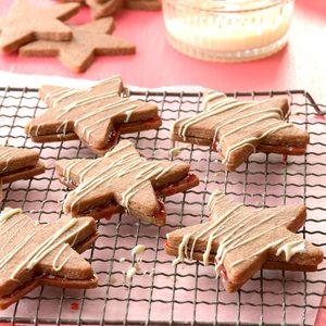 Chocolate Linzer Torte Stars