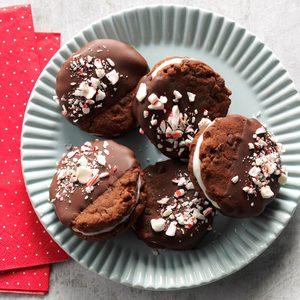 Chocolate-Mint Dream Sandwich Cookies
