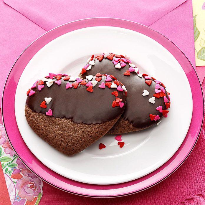 Chocolate-Mint Hearts