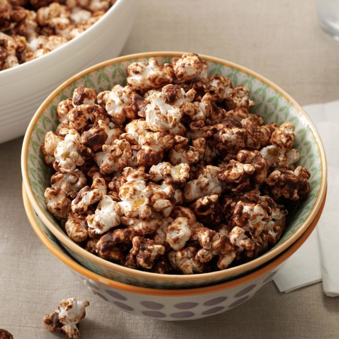 Chocolate-Mint Popcorn