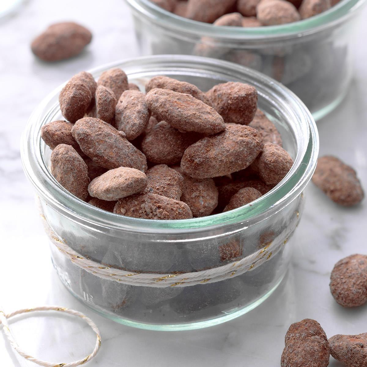 Chocolate Mocha Dusted Almonds