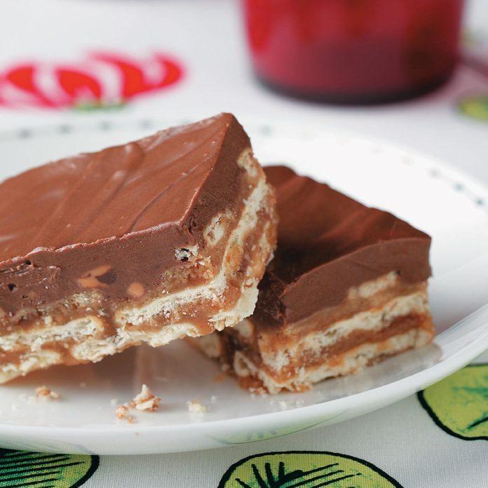 Chocolate Peanut Butter Crisp Bars