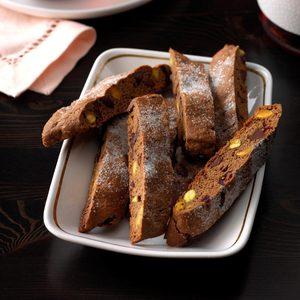 Chocolate Pistachio Biscotti