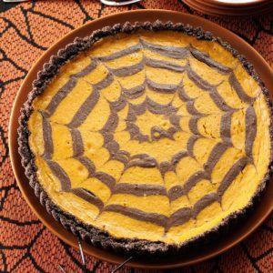 Chocolate Pumpkin Spider Tart
