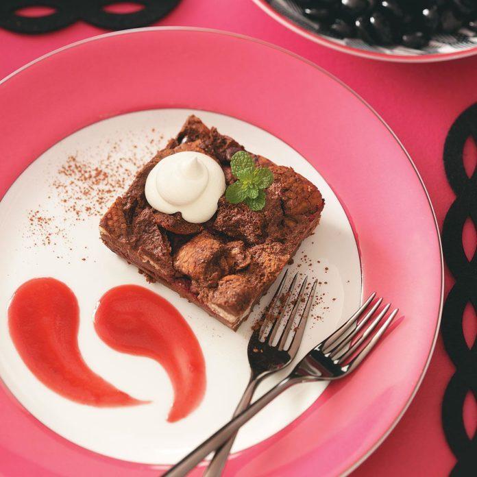 Chocolate-Raspberry Bread Pudding