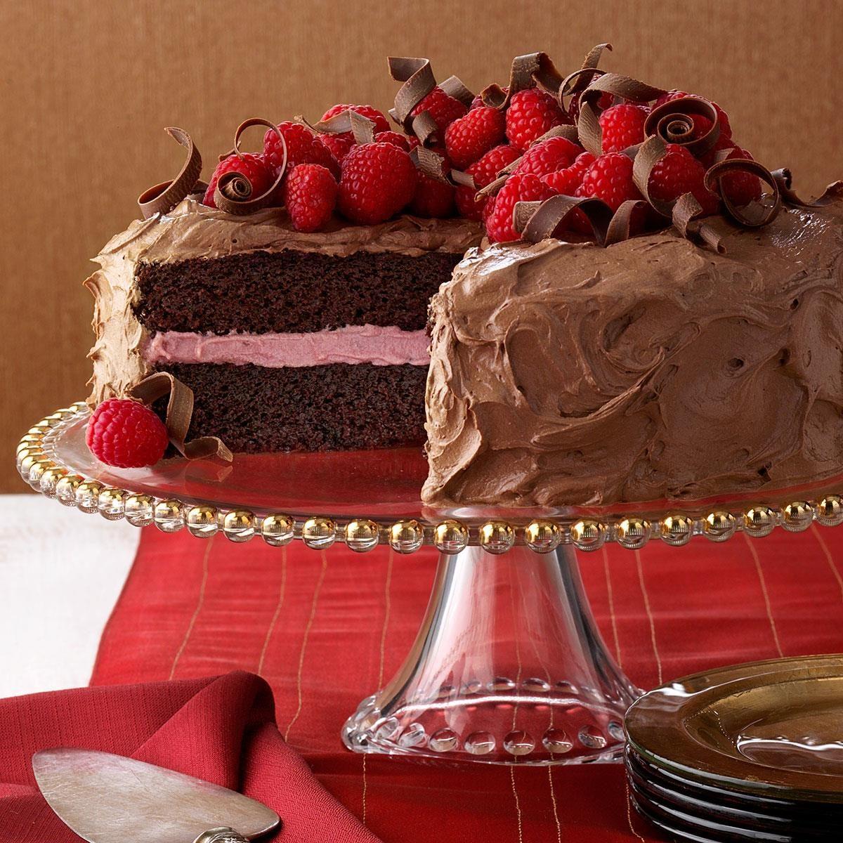 Chocolate Raspberry Cake Recipe | Taste of Home