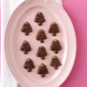 Chocolate Spritz Trees