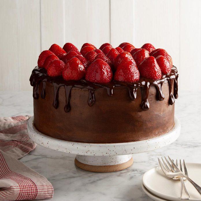 Chocolate-Strawberry Celebration Cake