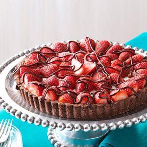 Chocolate-Strawberry Cream Cheese Tart
