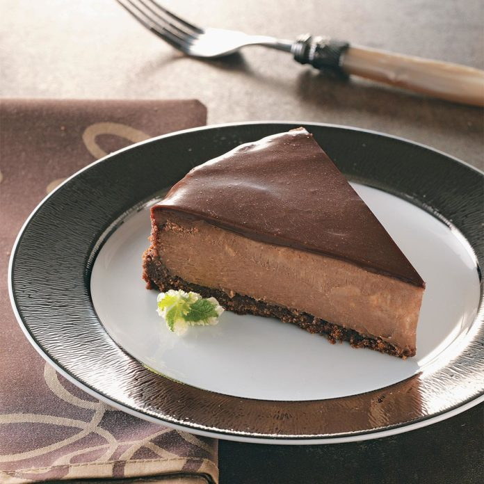 Chocolate-Topped Chocolate Cheesecake