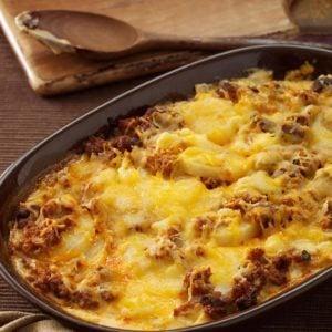 Chorizo Scalloped Potato Casserole