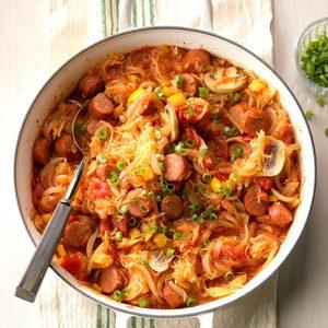 Chorizo Spaghetti Squash Skillet