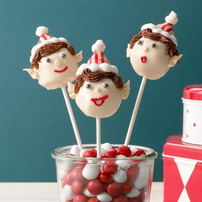 Christmas Elf Cake Pops