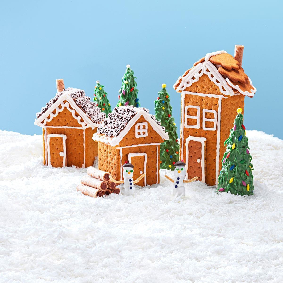 Christmas Graham Houses