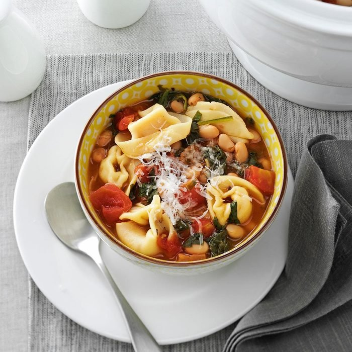 Christmas Tortellini & Spinach Soup