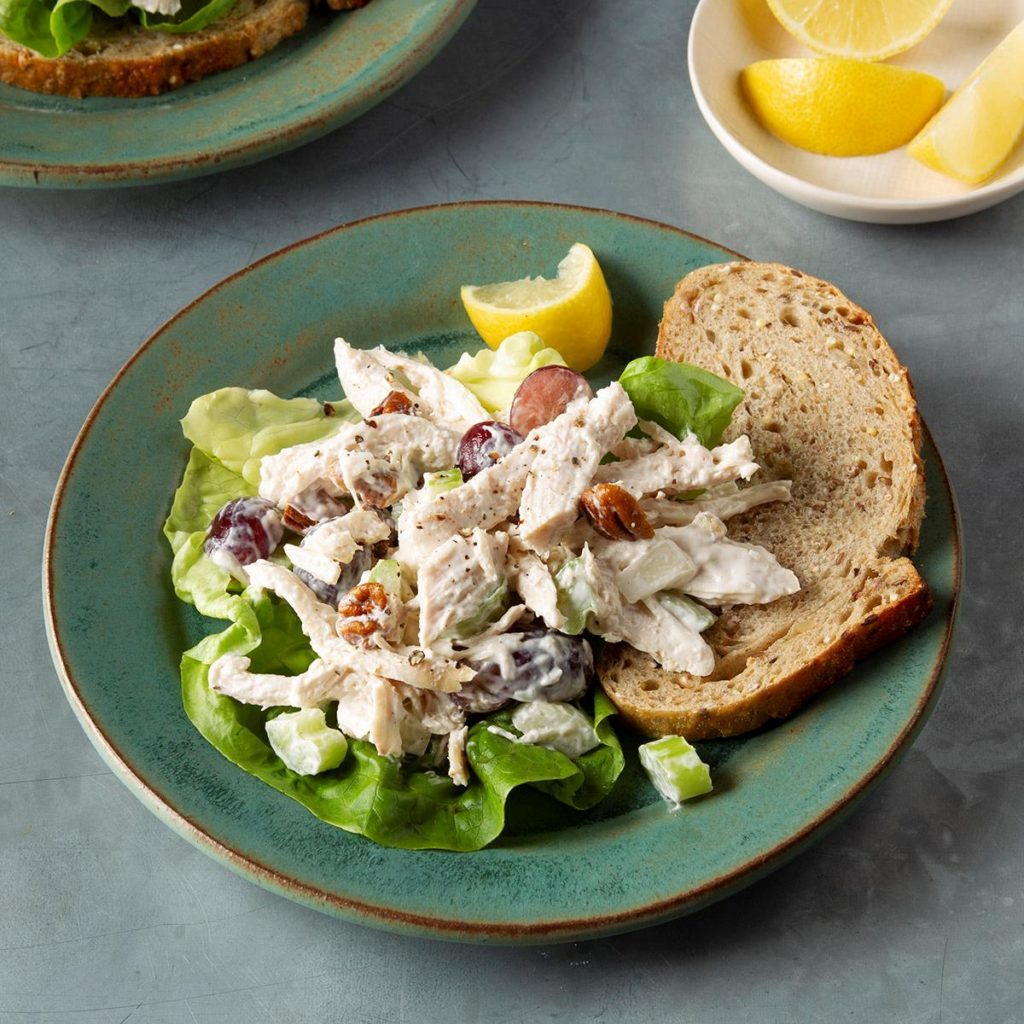 Chunky Chicken Salad with Grapes and Pecans