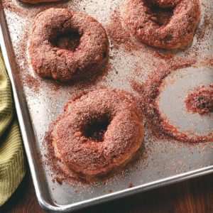 Cinnamon Bagels with Crunchy Topping