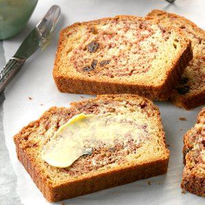 Cinnamon Raisin Quick Bread