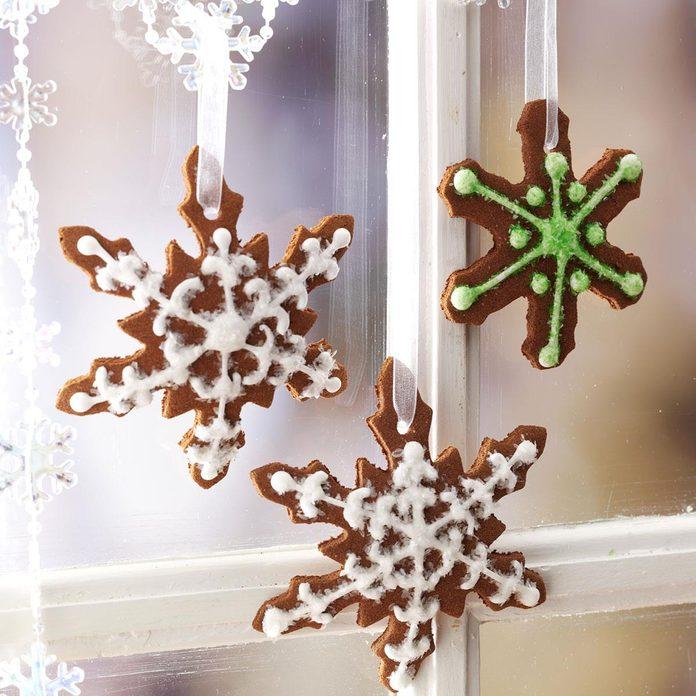 Cinnamon Snowflake Ornaments