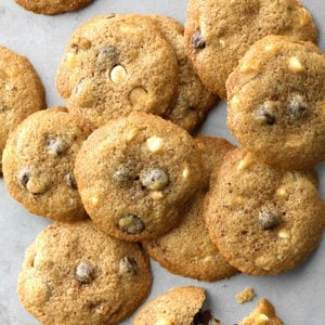 Cinnamon White & Dark Chocolate Chip Cookies