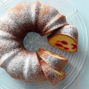 Citrus-Raspberry Coffee Cake