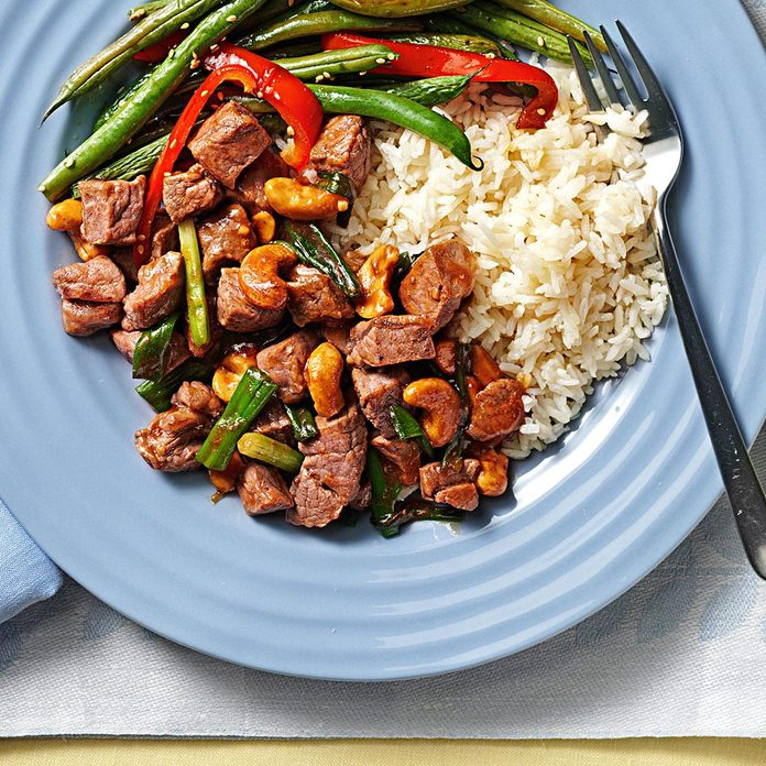 Classic Cashew Beef for Two