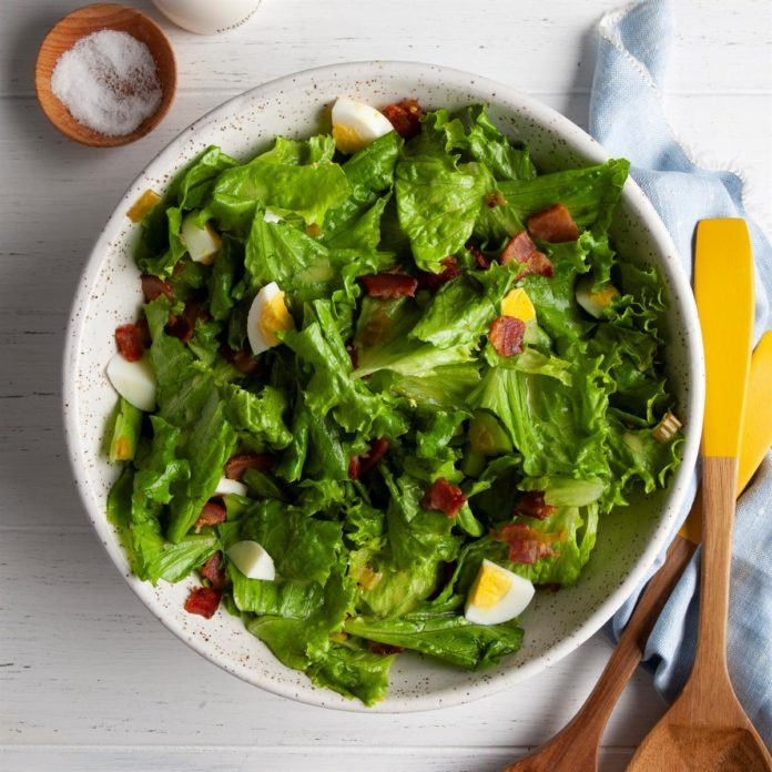 Classic Wilted Lettuce Salad Recipe | Taste of Home