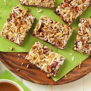 Coconut Cranberry Oat Bars
