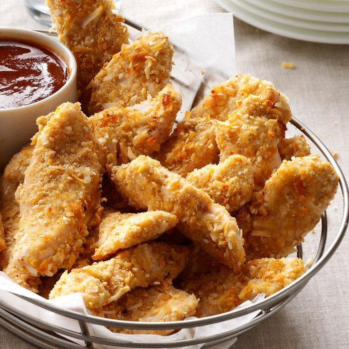 Coconut-Crusted Turkey Strips