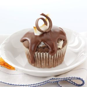 Coconut-Filled Chocolate Cupcakes