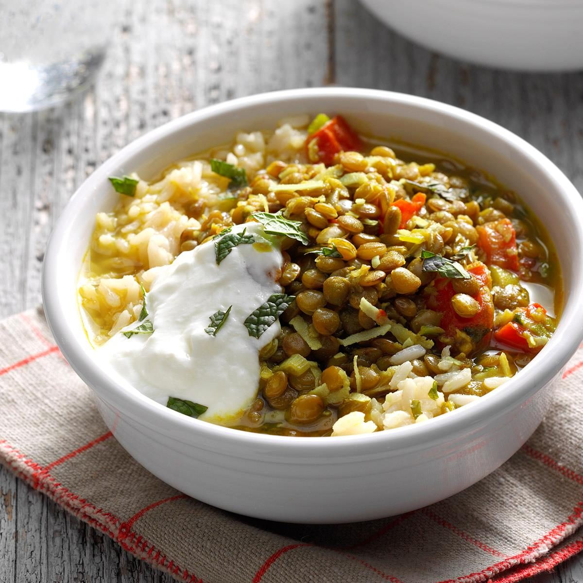 Coconut Lentils with Rice