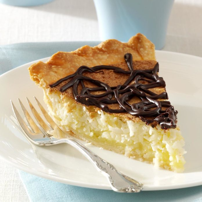 Coconut Macaroon Pie with Chocolate Ganache