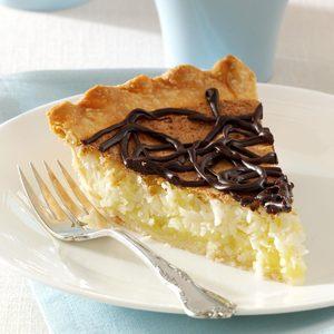 Coconut Macaroon Pie with Chocolate Ganache