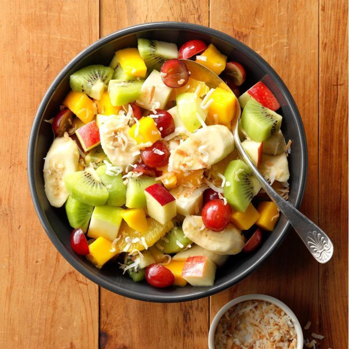 Coconut Tropical Fruit Salad