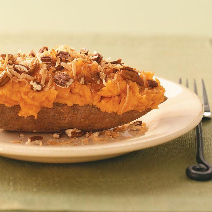 Coconut Twice-Baked Sweet Potatoes