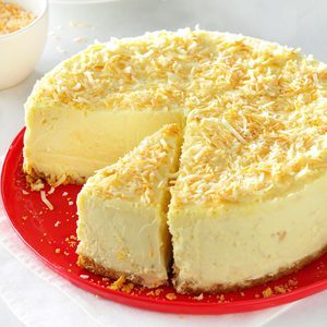 Coconut-White Chocolate Cheesecake