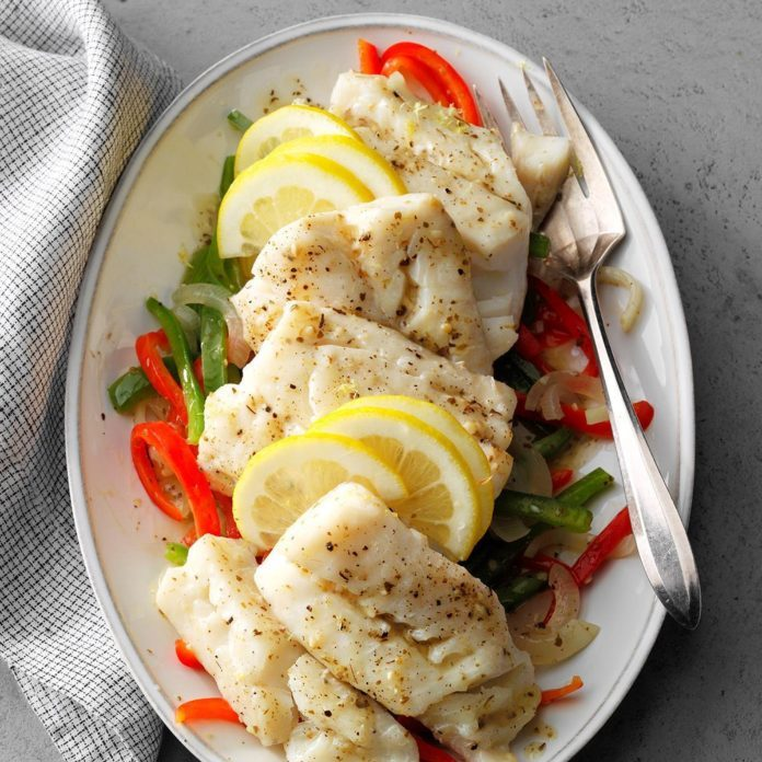 Cod with Sweet Peppers