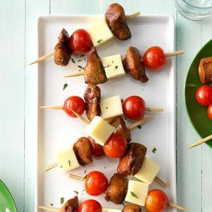 Cold Chicken-Cheese Kabobs