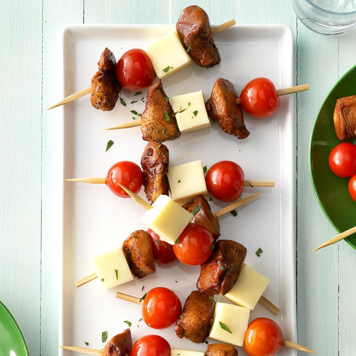 Cold Finger Food Ideas: Cold Chicken-Cheese Kabobs Recipe